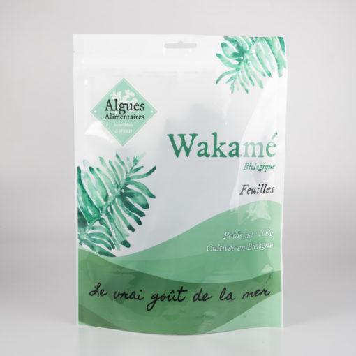 Algue Wakamé biologique en feuilles