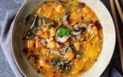 Bouillon de légumes aux algues