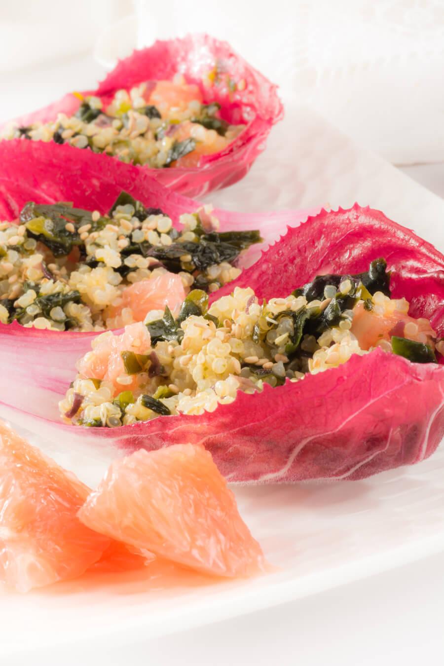 Recette Salade de quinoa fruitée au Wakamé